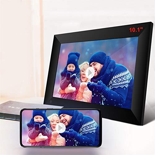 """MXXQQ Digitaler Bilderrahmen 10.1\"""", Wireless-LAN Hohe Auflösung IPS Screen-Digital-Bilderrahmen, Unterstützung Foto/Video/Position Freigabe, Gebaut 16GB Speicher"""