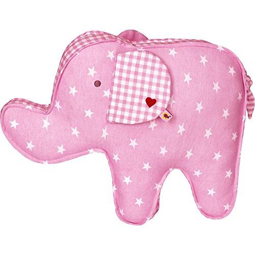 Die Spiegelburg 13961 Kissen Elefant BabyGlück, rosa