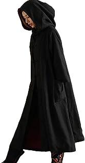(モダンミス)Mordenmiss 無地ロングコート レデイース フード付き巫女さんローブ Halloween ハロウィン 男女兼用