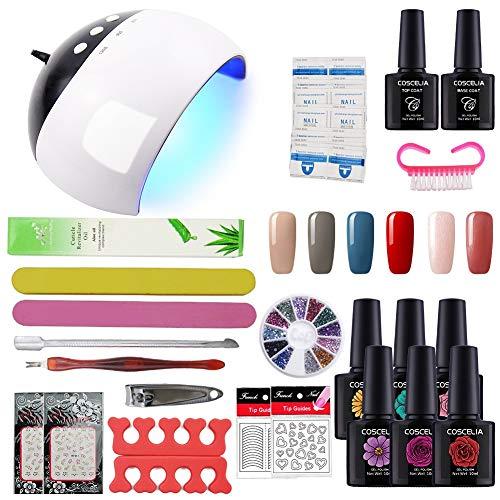 Coscelia Manicura Pedicura Set USB 24W Lámpara Secador Uña de Esmalte de Gel Nail Art...