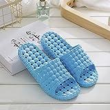 JFHZC Zapatos de Piscina,Sandalias y Zapatillas de Masaje Huecas para Hombres y Mujeres, Parejas, Zapatillas de baño con Fugas en el hogar Interior-Sky_Blue_38-39