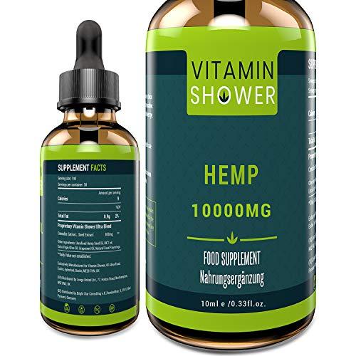 Premium Hemp Seed Oil | 60ML-50000MG | 2020 Powerful Formula | Vegan Friendly | Omega 3-6-9 | Non GMO (10ML-10000MG)