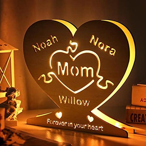 Personalized Ranking TOP15 LED Night Light Custom Super beauty product restock quality top! Wooden Lamp Puzzle Cust Name