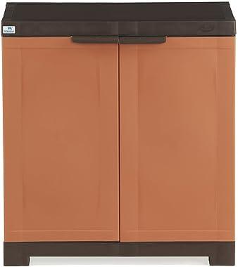 Nilkamal Freedom Mini 09 (FMSC09) Plastic Shoe Cabinet (Rust & Weathered Brown)