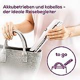Beurer HS 20 Akku-Haarglätter mit USB-Aufladung, drei Temperaturstufen und Schnellheizung , ideal für unterwegs, rosa - 4
