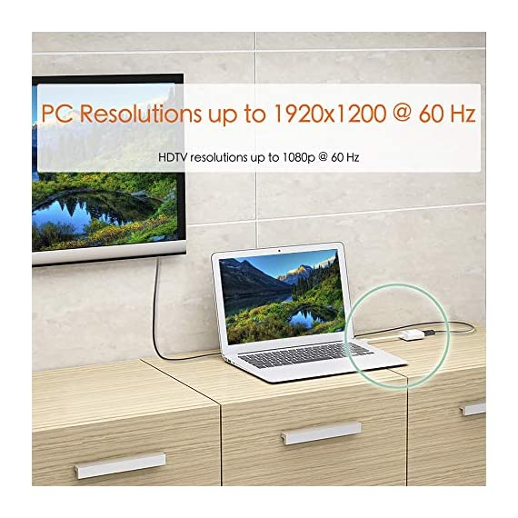 j5create JDA213 HDMI to VGA Adapter 7 Easily make your new HDMI equipment compatible with a VGA display Supports PC resolutions up to 1920x1200 @ 60 Hz (WUXGA) and HDTV resolutions up to 1080p @ 60 Hz 2-channel analog audio output