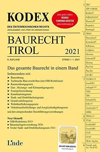 KODEX Baurecht Tirol 2021 (Kodex des Österreichischen Rechts)