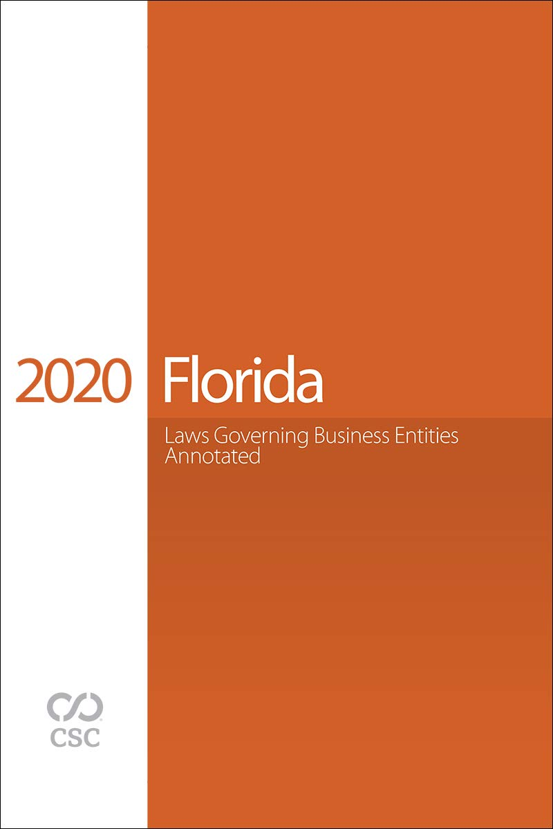 CSC® Florida Laws Governing Business Entities