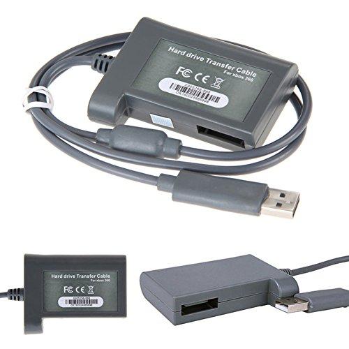 NAttnJf - Cable de Transferencia de Datos HD para Xbox 360 HDD (Conector USB)