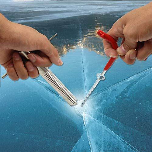 Multifunción Pesca en espiral de la pesca en espiral del taladro de la carpa de invierno clavos fijos del hielo del hielo del titular del tornillo de la pesca del hielo Accesorios de pesca de hielo CA