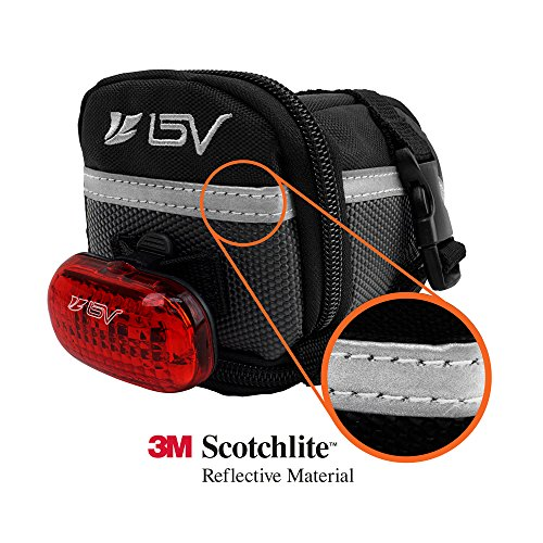 BV(ビーブイ)自転車サドルバッグストラップ式自転車バッグシートバッグ容量拡張耐水性(Medium)