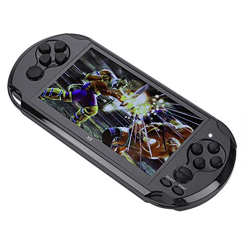 Pomya Handheld Game Console, Mini Portable 5.1-inch Color Screen Handheld Video Game Player Game Console with Camera and DV Shooting Pictures Functions for Children (Black)