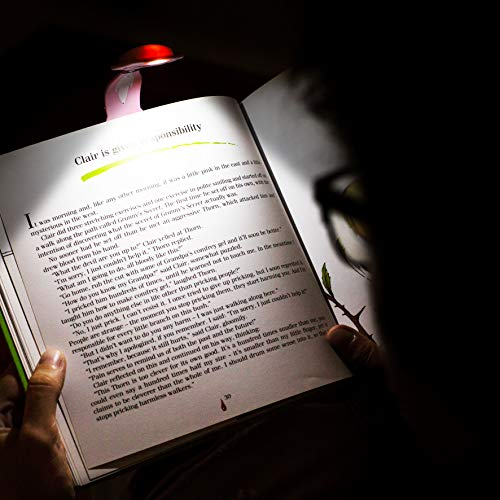 Kids Book Light for Reading in Bed at Night. Clip on LED Booklight and Bookmark. Cute Christmas Stocking Stuffer and Birthdays Gift for Children - Cat