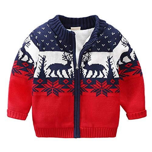 Modder Koninkrijk Little Boy vest trui fleece gevoerde kerst hert