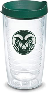 Tervis 1084928 Colorado State Rams Logo Tumbler with Emblem and Hunter Green Lid 16oz, Clear