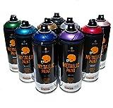 MTN PRO Metallic Spray Paint 400ml Set of 9 Various Colors