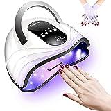 Lámpara de uñas LED UV de 120 W, secador de uñas más rápido para uñas y uñas de los pies con 4 temporizadores de configuración de pantalla LCD