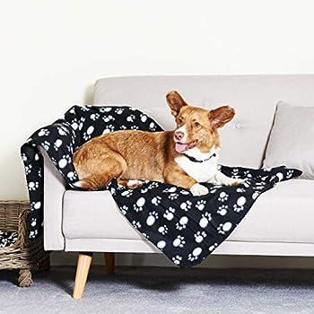Me & My Pets Grand Couverture D'Animal en Polaire A Motif De Pattes – 140 x 100cm – Choix de Couleur