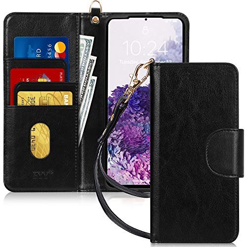 """FYY Case for Samsung Galaxy S20 5G 6.2"""", [Kickstand Feature] Luxury PU Leather Wallet Case Flip Folio Cover with [Card Slots] and [Note Pockets] for Galaxy S20 5G 6.2 inch Black"""