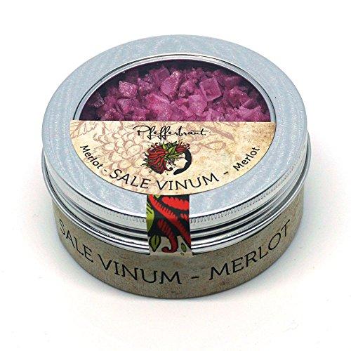 Pfefferbraut Sale Vinum Merlot - Manufaktursalz Pyramiden-Fleur de Sel in der Fingersalzdose 80g