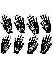Actie ! Henna Tattoo sjabloon sjabloon 8 vellen Fleur 8 - Henna beschildering