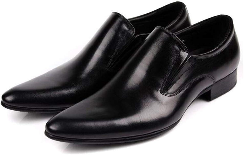 Y -H Formal skor, Business Casual läder skor, skor, skor, Point Personity Loafers och Slip -Ons Lazy skor Formal Business Work s (Färg  svart, Storlek  42)  fabriksförsäljningar