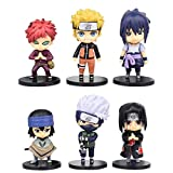 MNZBZ 6 unids/Set Anime Naruto Figura de acción Juguetes Zabuza Haku Kakashi Sasuke Naruto Sakura PV...