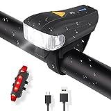 ELEHOT Faro Bici Faro Bicicletta LED Anteriore Ricaricabile USB Luce Regolabile 4 modalità Impermeabile IPX6...