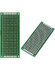 ICQUANZX 10PCS (3 x 7cm) printplaat universele dubbelzijdige prototyping breadboard paneel printplaat voor doe-het-solderen
