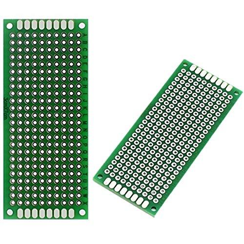 ARCELI 10 STÜCKE (3x7 cm) PCB Board Universal Doppelseitige Prototyping Breadboard Panel Platine für DIY Löten