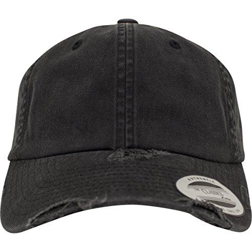 Flex fit Low Profile Destroyed Cap Black One Size Casquette Unisex-Adult