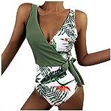 Pas Cher Maillots Une Pièce Femme Sexy Push Up Vintage Grande Taille Mode Chic Impression Slim Moulante Amincissant Triangle Maillot de Bain 1 Pièce Swimsuit Swimwear