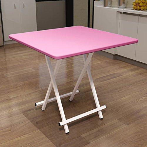 Mesa plegable port¨¢til para El hogar, mesa moderna mini - pl¨¢stica, mesa de computadora cuadrada multicolor elegante, mesa peque?a (60 x 60 x 55 cm) (c)