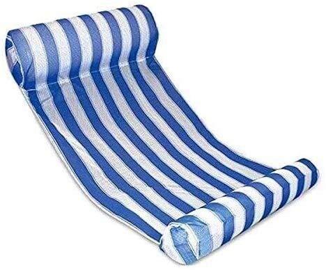 HJQFDC Faltungsschwimmbad, Wasserluftbett, Schwimmboden mit Pool, aufblasbarer Pool Hängematte, Schwimmbett, Liegestuhl Tragbare Sand Floating Line Party Spielzeug Peng MEI