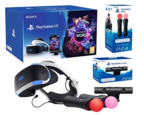 PlayStation VR2 (CUH-VR2) 'Starter Plus Pack' + VR Worlds + Kamera V2 + Twin Move Kontrollers