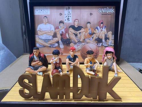 Hanamichi Sakuragi Rukawa Kaede Mitsui Hisashi Akagi Takenori Miyagi Ryota Slam Dunk Figura de acción de colección Modelo de Juguete E con Caja al por Menor-B con Caja al por Menor