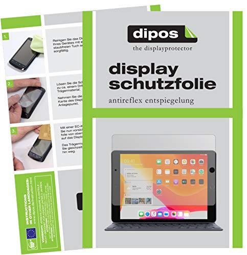dipos I 2X Schutzfolie matt kompatibel mit Apple iPad 10.2 Zoll (2020) Folie Bildschirmschutzfolie