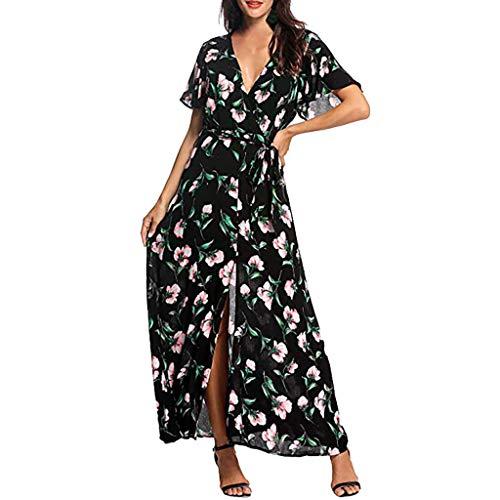 Vestidos para Mujer,Elegante Fiesta Vestidos Vestido de Cóctel Vestido de Noche Moda Vestido Slim Fit Vestidos Largo Sexys Vestidos Manga Corta Vestido de Novia Vestido de Playa vpass