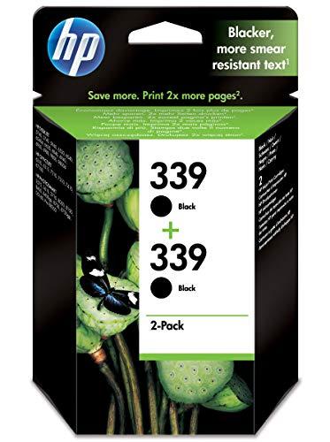 HP 339 Twin Pack Druckerpatrone, 2 x Schwarz