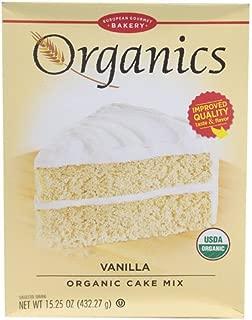 European Gourmet Bakery Organics Cake Mix Vanilla -- 15.25 oz - 2 pc