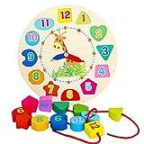 TrifyCore Reloj de Aprendizaje, Reloj de Rompecabezas, Juego Educativo de Madero Juego de niños Juego de Aprendizaje para niños y bebés