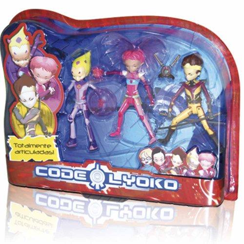 Código Lyoko - Set 3 Figuras Cod.Lyoko (Simba) 3089009