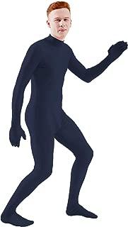navy blue spandex suit