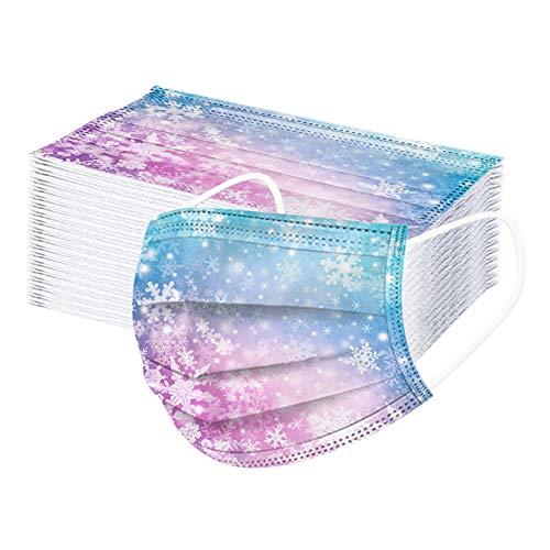 Fossen 50 Stück Kinder Einweg ??????????,3 lagig Mund-Nasen-Schutz,Multifunktionstuch Bandana Staubdicht Mund-Nasen Bedeckung Halstuch Schals für Junge Mädchen (K, 50PCS)
