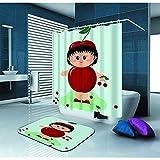 Not applicable Duschvorhang Baby in einem roten Apfelkostüm Wasserdichter Duschvorhang aus...