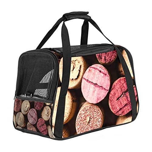 Portador de mascotas Corchos de vino de cara suave para mascotas Transportadores de viaje para gatos, perros cachorros comodidad portátil plegable bolsa para mascotas aprobada por aerolíneas