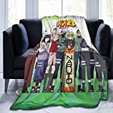 Classic Ultra-soft Micro Fleece Blanket Flannel Blanket with 50 x 40 Inch, Anti-pilling Folded Compactly Japanese Anime Na-ruto Character Poster Throw Blanket, Warm Cozy Bed Blanket for Sofa Couch Bed