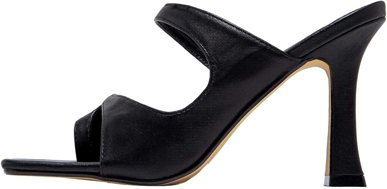 Women's Sandals Sexy 新作 人気 人気ブレゼント! Toe Loop Squared High Slide Slippe Heel