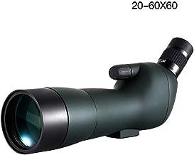 Outdoor Bird Watching Monocular, 20-60x60 Zoom HD Large Objective Lens FMC, Low Light Night Vision Target Mirror,Waterproo...
