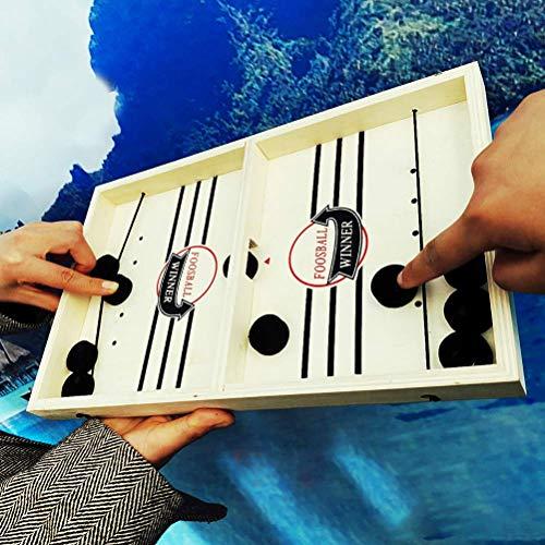 Kampfbrettspiele, Tisch Desktop-Battle 2 in 1 Eishockey Spiel, Fast Sling Puck Spiel pace Slingpuck Gewinner Brettspiel Spielzeug for Erwachsene Kinder 56 * 30 * 2,5 cm zcaqtajro ( Color : 37*24*3cm )